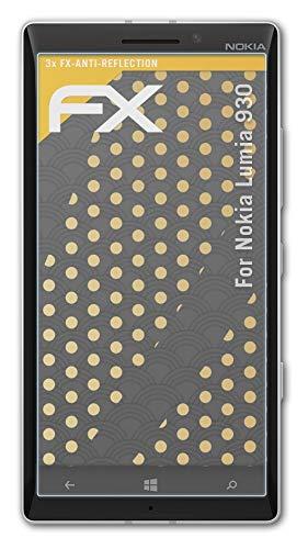 atFolix Panzerfolie kompatibel mit Nokia Lumia 930 Schutzfolie, entspiegelnde & stoßdämpfende FX Folie (3X)