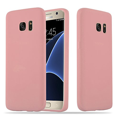 Cadorabo Hülle für Samsung Galaxy S7 - Hülle in Candy ROSA – Handyhülle Schutzhülle aus TPU Silikon im Candy Design - Ultra Slim Soft Back Cover Case Bumper