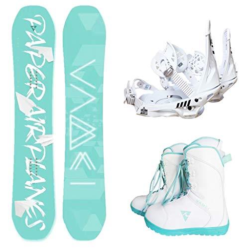 ADKINC Freestyle Snowboard, Fijaciones y Botas, Ideal para avanzado, (4 dureza)
