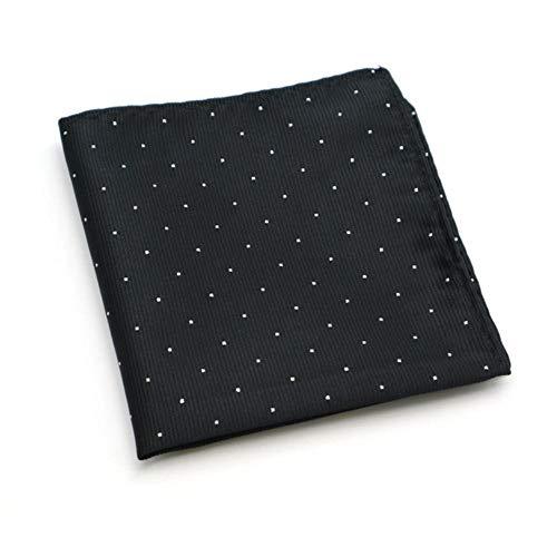 Boner Heren polyester zakdoeken Zilver Polka Dot Man Zakvierkantjes Pakken Jassen Bruiloft Zakelijk Modegift, 01