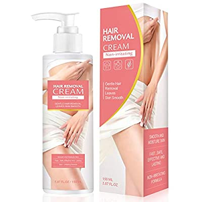 SIAMHOO 150ML Painless Hair Removal Cream Depilatory Cream Fast & Effective Hair Remover Cream for Arms, Chest, Legs - 1pcs