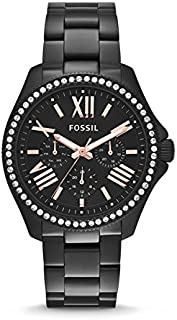 Fossil Cecile For Women Black Dial Stainless Steel Band Watch - AM4522