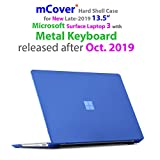 mCover Hard Shell Case for 13.5-inch Microsoft Surface Laptop 3 Computer with Metal Keyboard (NOT Compatible w/Surface Laptop 3/2 / 1 Models w/Alcantara, Surface Book and Tablet) - SL3-MK Blue