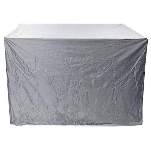 FEIYI Cubierta impermeable para columpio de 3 plazas, resistente al agua, para jardín, patio, hamaca para exteriores, muebles de exterior, protección contra rayos UV, lluvia y polvo