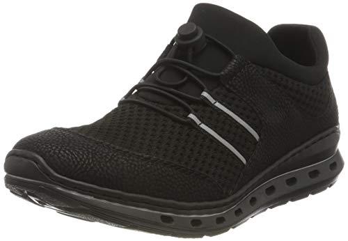 Rieker Damen L22X0 Sneaker, schwarz/schwarz/schwarz 01, 39 EU