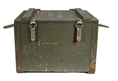Unbekannt Französische Holzkiste Base 2/3 Seilgriffe gebraucht 57 x 48,5 x 42 Lagerkiste Truhe Armeekiste