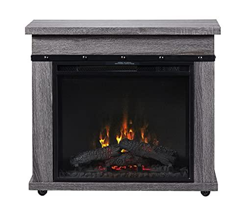 "DIMPLEX Morgan Mantel with 23"" Electric Fireplace, (Model: C3P23LJ-2085CO), 120V, 1500W, 12.5 Amps, Charcoal Oak"