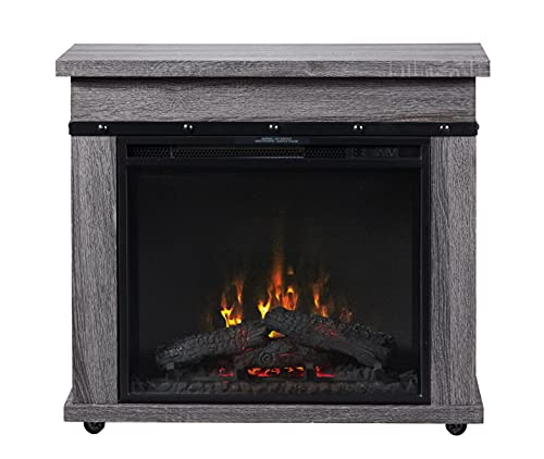 DIMPLEX Morgan Mantel with 23' Electric Fireplace,...