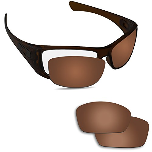 Fiskr - Lentes de repuesto para gafas de sol Oakley Hijinx, varios colores, Marrón (Bronze Brown – Anti4s Polarized), Large