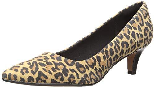 Clarks Damen Linvale Jerica Pumps, Hellbraunes Leopardenmuster, 43 EU