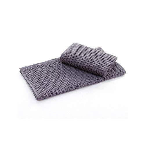 Mrjg Cocina 1 unid 100% algodón Toallas de Mano para Adultos Suave Toalla a Cuadros Toalla Cara Cuidado de la Cara Bathroom Toalla Deporte 33x72cm Limpieza Cara paños (Color : Gray)