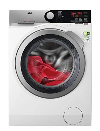 AEG L8FE77495 Waschmaschine / ÖKOMix - Faserschutz / ProSteam® - Auffrischfunktion / 9,0 kg / Leise / Mengenautomatik / Nachlegefunktion / Kindersicherung / Wasserstopp / 1400 U/min