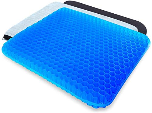 NHXTDWL Gel Seat Cushion, Double Thick Egg Seat Cushion with Non-Slip Cover for Home Office Car Wheelchair,Help in Relieving Back Pain & Sciatica Pain,Breathable Design,Durable,Portable
