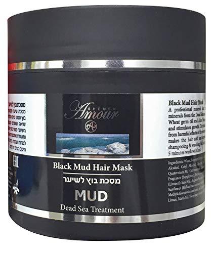 Totes Meer Schlamm Haarmaske mit Arganöl und Sheabutter – 500 ml. Haarkur für trockenes und geschädigtes Haar | Wirkt gegen Haarausfall | Unterstützt Haarwachstum | Anti Spliss | von Shemen Amour