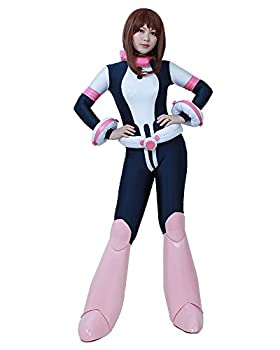 miccostumes Women s Ochako Uraraka Hero Cosplay Suit Costume  S