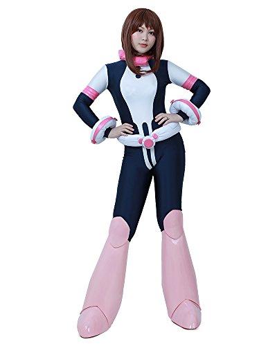 miccostumes Women's Ochako Uraraka Hero Cosplay Suit Costume (L)