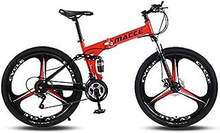 دراجة جبلية قابلة للطي 21 سرعة للكبار من الجنسين من MACCE، ثلاث عجلات 26، أحمر، مقاس كبير