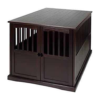 Casual Home 600-84 Wooden Extra Large Pet Crate, End Table, 30  H - XL, Espresso