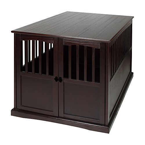 Casual Home Wooden Extra Large Pet Crate, End Table, 31.5'W x 44.5'D x 30'H, Espresso