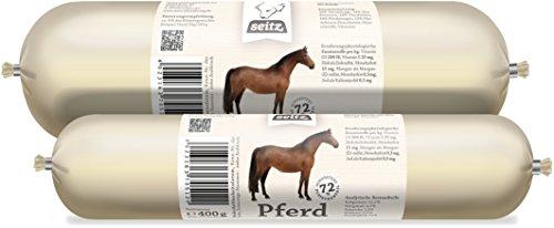 Hundewurst-Paket, Pferd Pur, 12 x 800 g, Hundefutter für Allergiker