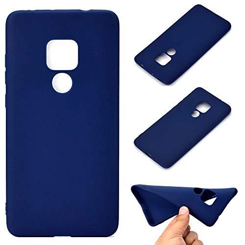CoverKingz Schutzhülle Handy Hülle für Huawei Mate 20, Silikon Handyhülle, Cover Blau