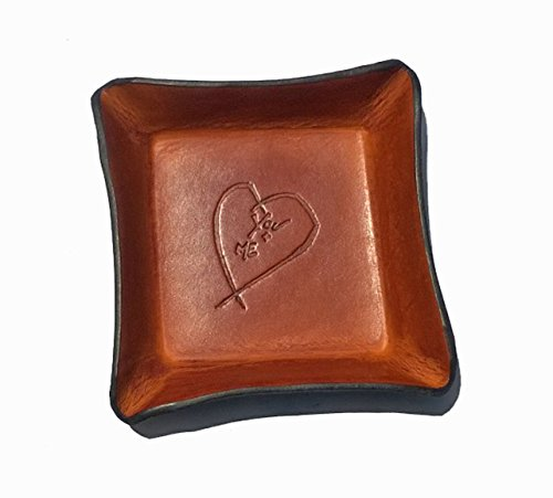 Leather Valet Tray with Heart