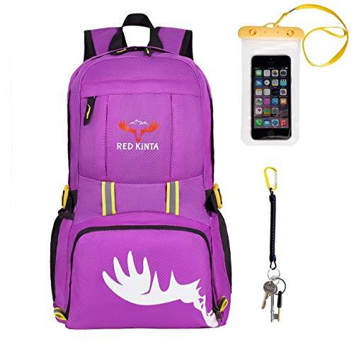 RED KINTA® Ultra Lightweight Backpack Small Women Rucksack Foldable Men Backpack 35L...