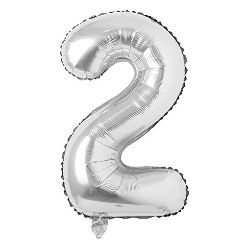 40 inch Letter Balloons Silver Alphabet Number Balloon Foil Mylar Party Wedding Bachelorette Birthday Bridal Shower Graduation Anniversary Celebration Decoration can fly with helium 40 INCH Silver 2