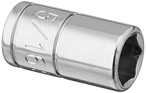 SK Professional Tools 40910 1/4 in. Drive 6-Point Fractional Standard Chrome Socket – 5/16 in, Cold Forged Steel Socket with SuperKrome Finish, Made in USA