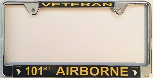 Diuangfoong 101st Airborne Veteran - Marco para matrícula (cromado)
