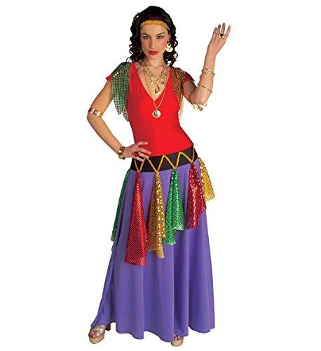Dames Gipsy Queen Kostuum Extra Groot UK 18-20 voor Middeleeuwse Prinses Fancy Jurk