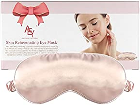 Skin Rejuvenating Eye Mask For Sleeping, Pink Silk Sleep Mask For Woman With Copper Oxide Fibers Anti aging Sleep Mask, Super Soft Eye Mask For Dark Circle, Puffy Eye & Anti-wrinkle