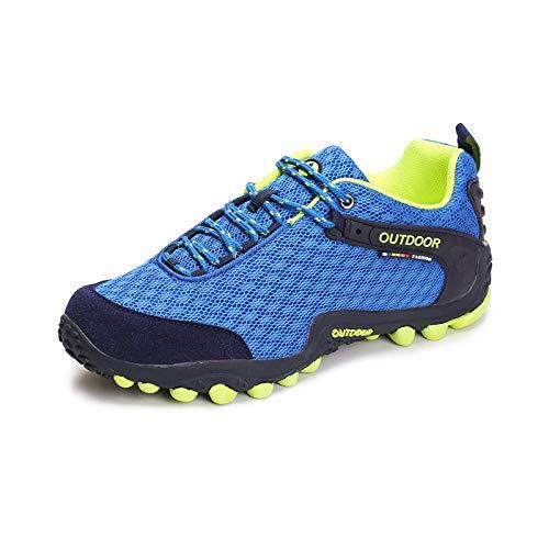 Herren Damen Sportschuhe,Calzado de Running para Hombre,Zapatos Deportivos Populares Zapatos Casuales de Malla Transpirable Zapatos de Senderismo-Royal Blue_39#