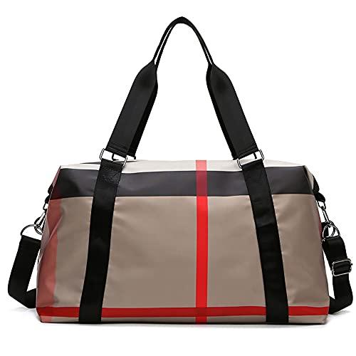 LCAWEI Bolsa de viaje de 34,95 L, gran capacidad con bolsillo mojado, bolsa de transporte con tela resistente al desgaste, impermeable, bolsa de viaje para fin de semana