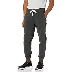Southpole Men's Active Basic Jogger Fleece Pants, New Heather Charcoal, X-Large