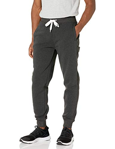 Southpole Men Active Basic Jogger Fleece Pants, New Heather Charcoal, XL