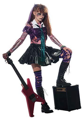 Halloween - Disfraz de Rockera Zombie para niña, infantil 5-7 años (Rubie's 881386-L)