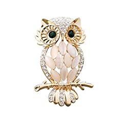 Alloy/Metal Fashion Owl Brooch For Women Money-back Satisfaction Guarantee, and if you have any question, please be free to contact us ! A delicate owl design This has a safety pin fitting