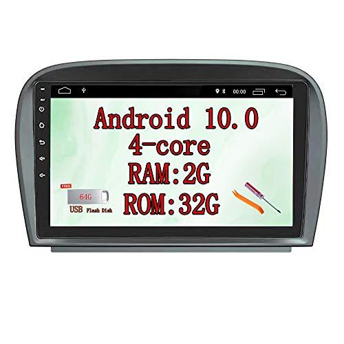 XISEDO 9' In-Dash Android 9.0 Autoradio Radio de Coche Car Radio Estéreo de Automóvil para Mercedes Benz SL R230 SL350 SL500 SL300 SL550 SL600 SL63 Soporte Control del Volante, Bluetooth, WiFi (32G)