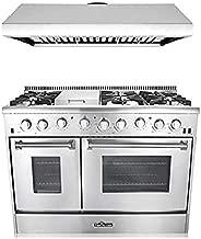 Thor Kitchen HRG4808UHRH4806U 2-Piece Kitchen Package 6 Burner Gas, 48