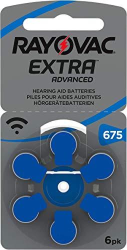 30 Stück (5 Blister) Rayovac Typ 675 Hörgerätebatterie Zinc Air P675 PR44 ZL1 mit 2 Stück LUXTOR® Reinigungstücher für Hörgeräte und Otoplastiken