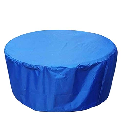 WZDD Cubierta para Muebles De Jardin 200X94cm, Funda Mesa Exterior Impermeable, Fundas Protectora Muebles Jardin Redonda, Resistente Al Polvo Anti-UV