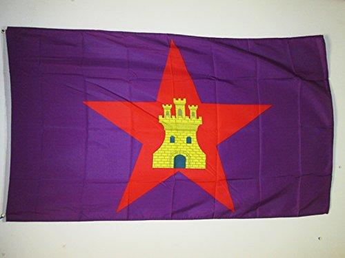 AZ FLAG Bandera de Castilla COMUNERA INDEPENDENTISTA 150x90cm - Bandera CASTELLANA NACIONALISTA 90 x 150 cm