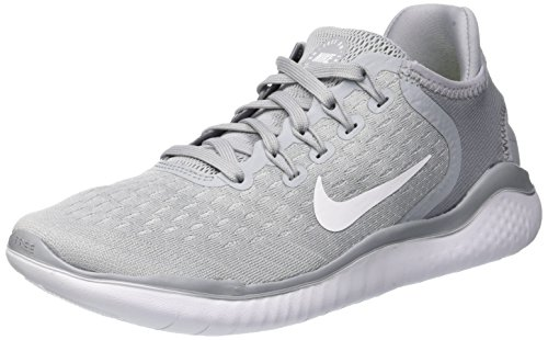 Nike Womens Flex 2017 Rn Low Top Slip On Running, Wolf Grey/White/Volt, Size 7.5
