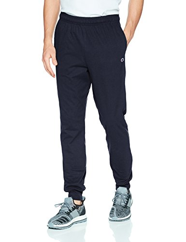 Champion Men's Jersey Jogger, Navy, L