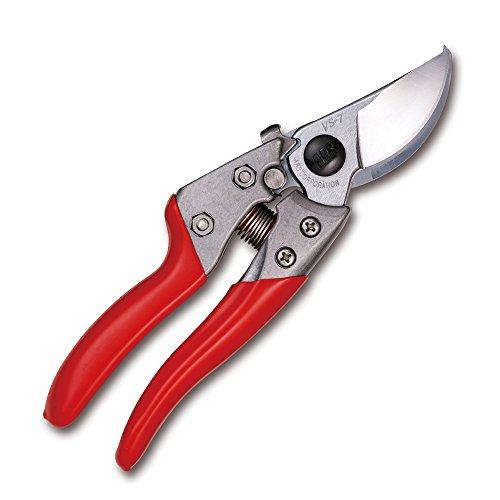 ARS Gartenschere, robust, rote Griffe, 17,8 cm
