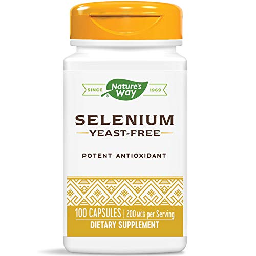 Nature's way, integratore al selenio da 200 mcg, 100 capsule