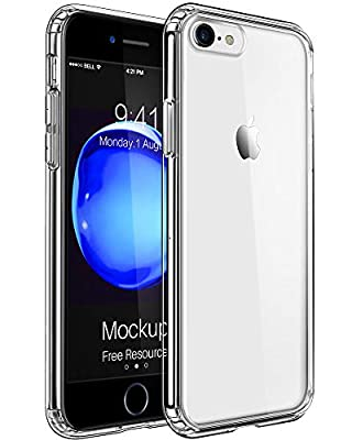 Mkeke Compatible with iPhone 8 Case, iPhone 7 Case Clear Shock Absorption Cases for Both iPhone 8 and iPhone 7 Cover
