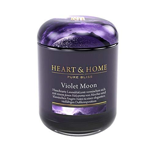 Heart & Home Grande bougie parfumée Violet Moon 340 g