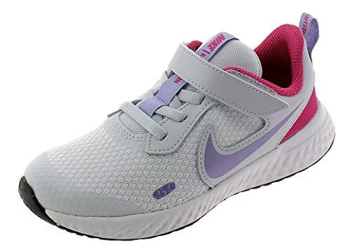 Nike Revolution 5 (PSV), Zapatillas para Correr Unisex niños, Football Grey Purple Pulse Fireberry White, 28 EU